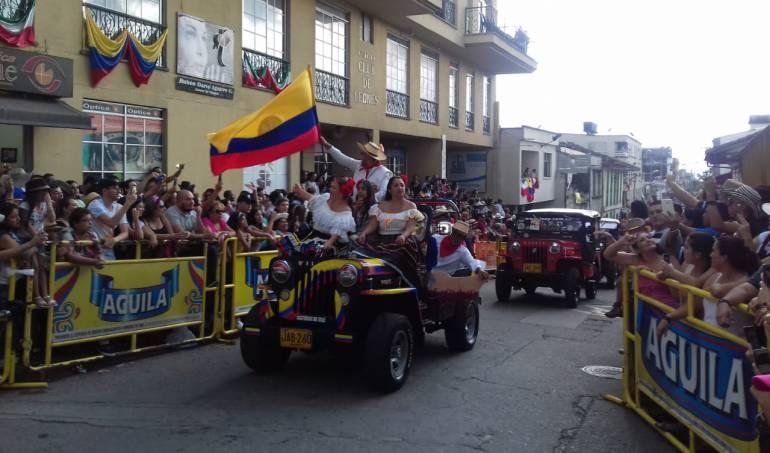 El Yipao en Calarcá con homenaje a Colombia