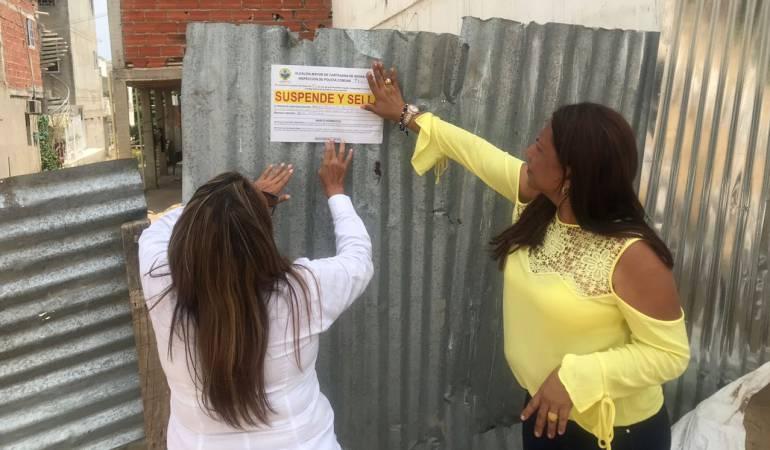 Construcción, Cartagena, Aguas pluviales: Por quejas suspenden construcciones en Localidad 3 de Cartagena