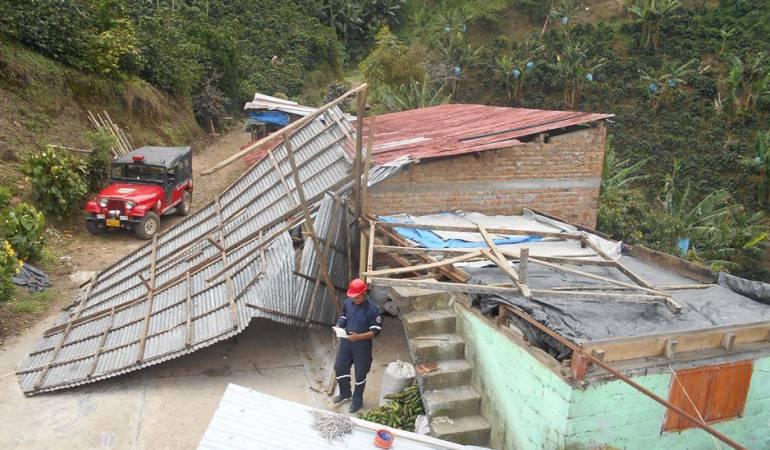 Cinco municipios de Risaralda afectados por las intensas lluvias