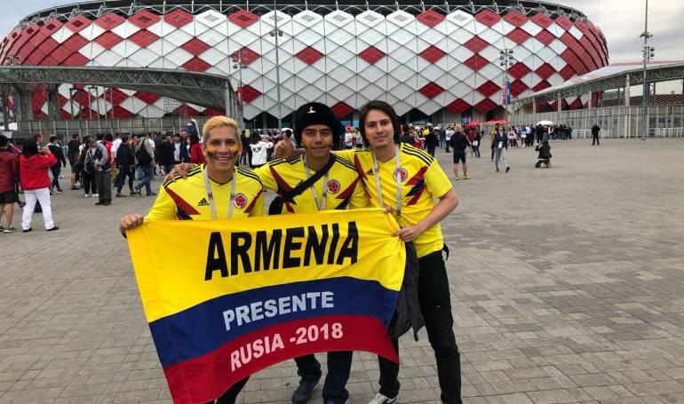 Quindianos acompañaron a la selección Colombia en Rusia