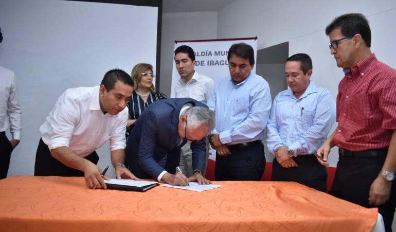 Proceso de paz: Gobierno nacional firmó contrato paz en el Tolima