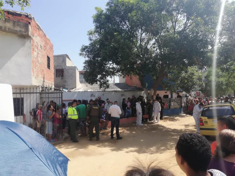 Lugar en que fue asesinado el taxista en el municipio de Soledad.