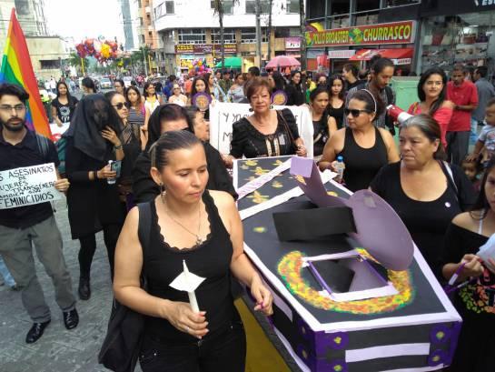 feminicidios: En Ibagué se rechazaron actos recientes de feminicidios