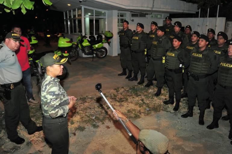Alcaldesa de Cartagena dirigió operativos de seguridad nocturnos: Alcaldesa de Cartagena dirigió operativos de seguridad nocturnos