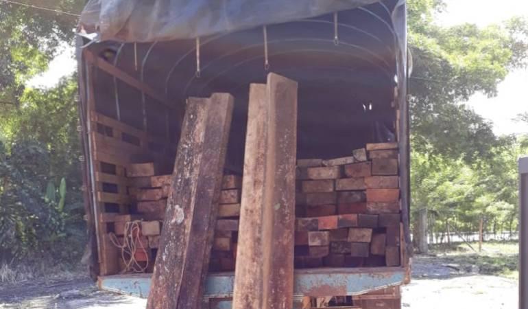 Incautan cargamento de madera ilegal que provenía del Chocó