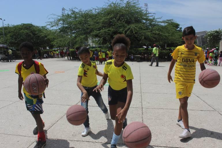Jornada recreo deportiva para más 500 niños cartageneros: Jornada recreo deportiva para más 500 niños cartageneros
