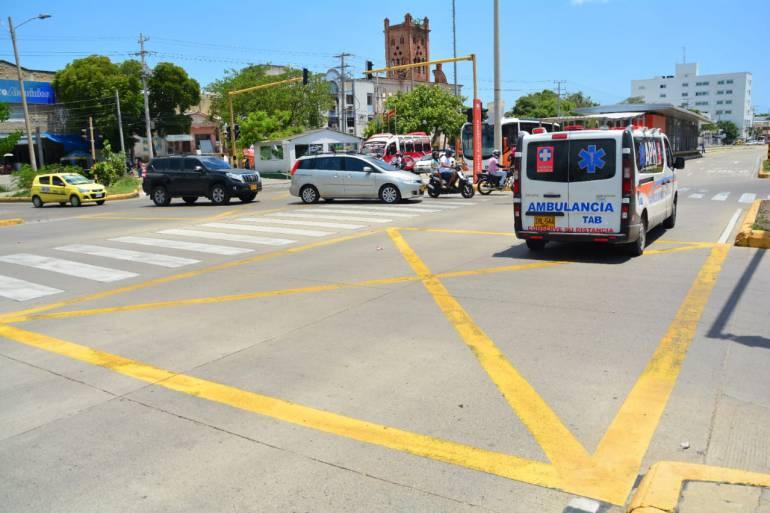 Van 298 comparendos por irrespetar zonas antibloqueos en Cartagena: Van 298 comparendos por irrespetar zonas antibloqueos en Cartagena