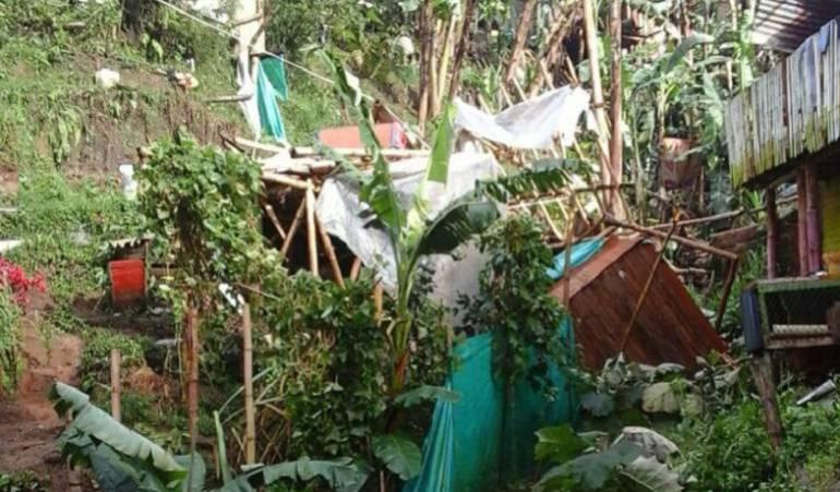 Familias indígenas en Marsella están damnificadas por las lluvias