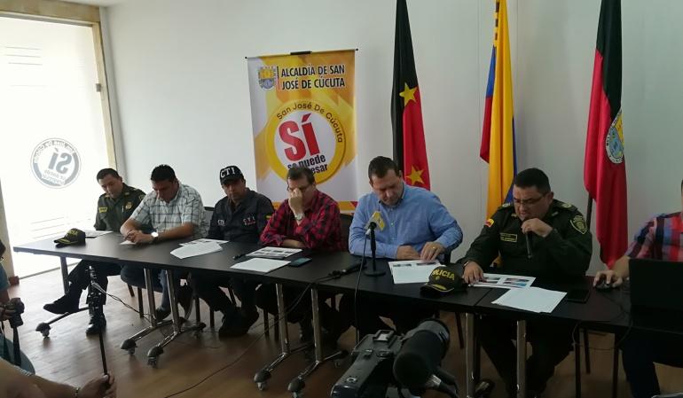 Entrega de informe de disminución de inseguridad en Cúcuta, sin embargo aumentaron las capturas de venezolanos