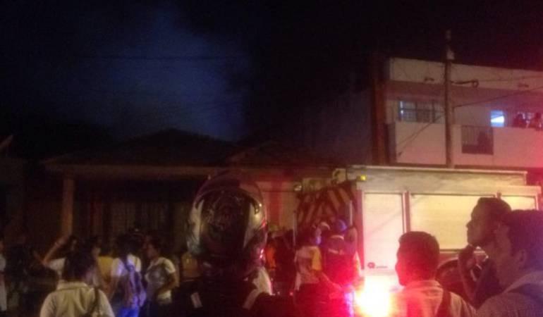 Sólo pérdidas materiales dejó un incendio en Barranquilla