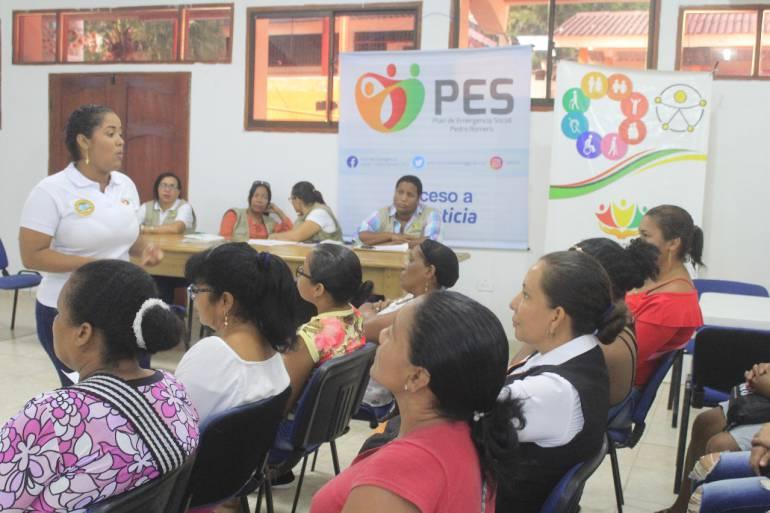 Madres Cuidadoras fueron atendidas por el PES de la alcaldía de Cartagena: Madres Cuidadoras fueron atendidas por el PES de la alcaldía de Cartagena