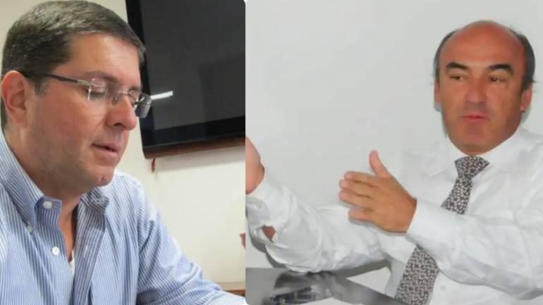 Luis Roberto Rivas Montoya (izq) y Juan Manuel Llano Uribe, ex alcaldes de Manizales.