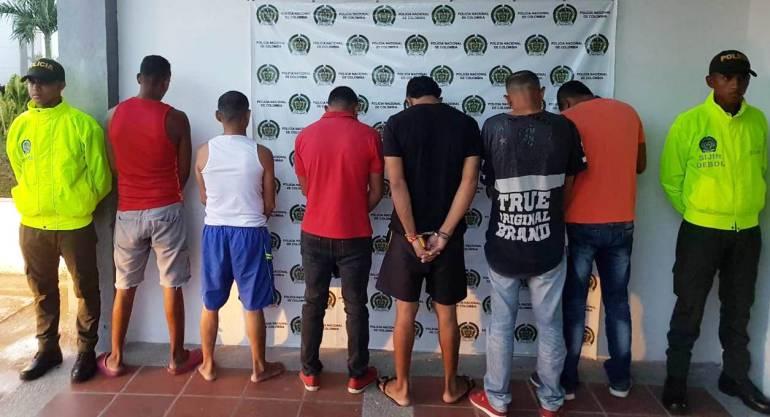 A la cárcel seis presuntos atracadores en Magangué Bolívar: A la cárcel seis presuntos atracadores en Magangué Bolívar