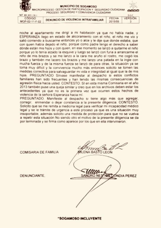 Alcalde de Sogamoso golpea a su esposa: Escándalo por agresión física del alcalde de Sogamoso a su esposa