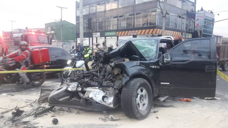 Accidentes de transito: Caos de movilidad por accidente en el norte de Bogotá