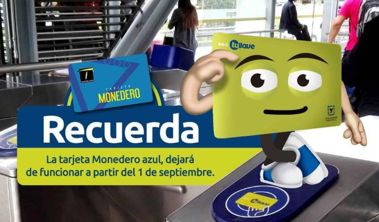 Transmilenio: Tarjetas azules dejarán de funcionar en Transmilenio