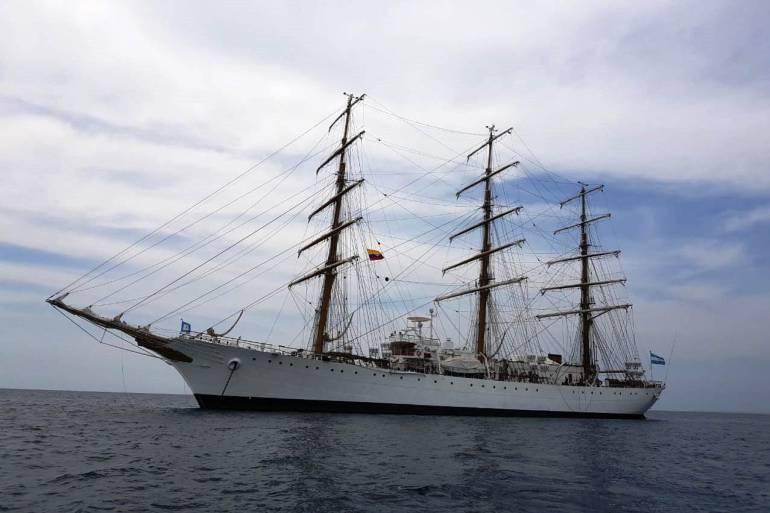 Con el arribo del buque escuela de Argentina inicia el Sail en Cartagena: Con el arribo del buque escuela de Argentina inicia el Sail en Cartagena