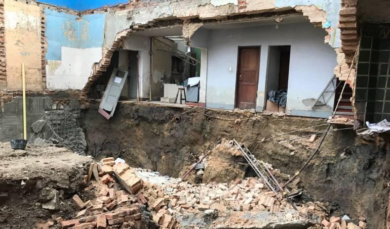 Temblor en Bogotá hoy: Muro colapsó en centro de Bogotá tras sismo ocurrido en las últimas horas