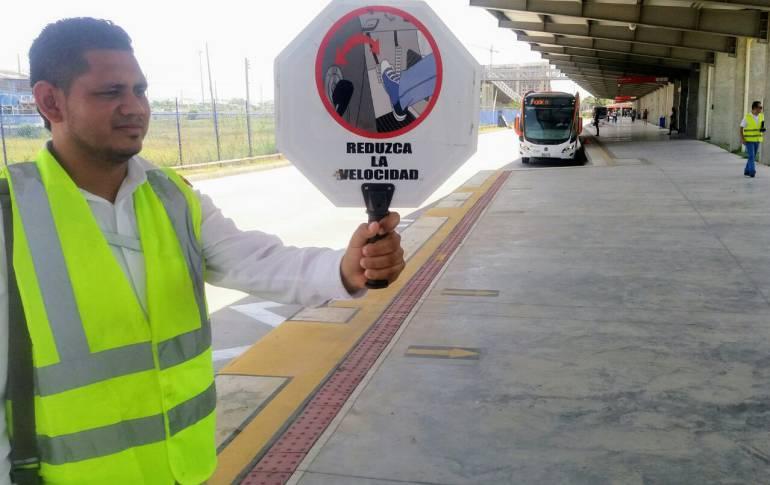 Transcaribe controla velocidad de sus buses en Patio Portal: Transcaribe controla velocidad de sus buses en Patio Portal