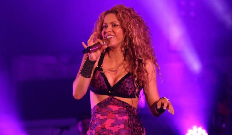 Shakira en el concierto de inauguración de los Juegos Centroamericanos y del Caribe Barranquilla