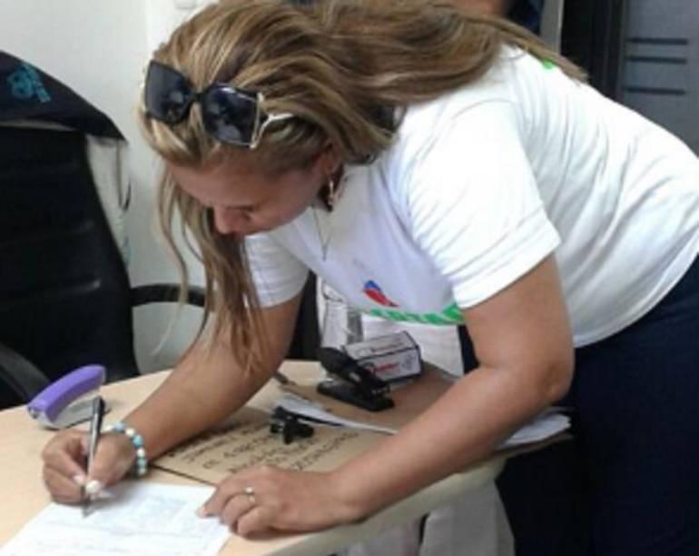 Rosa Villalba, líder amenazada en Santa Marta.