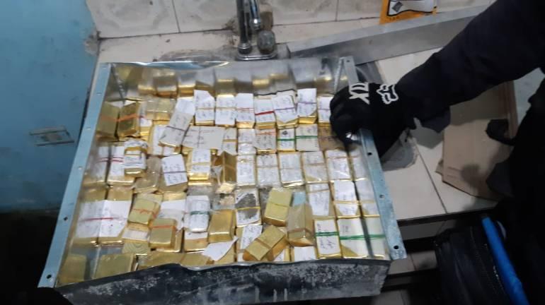 Clan del golfo oro: Incautan en Cali lingotes de oro pertenecientes al Clan del Golfo