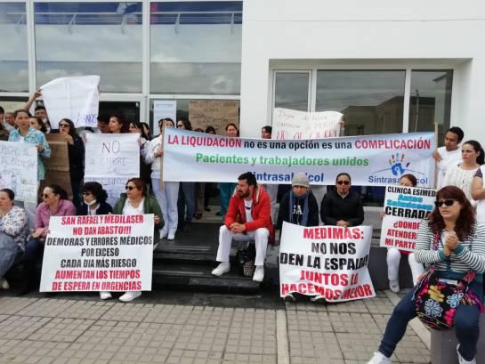Medimás crisis: Cierre de servicios en clínica Esimed de Tunja aumenta protestas de médicos