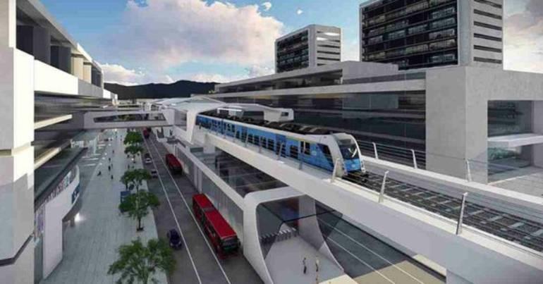 Propuesta de Metro elevado para Bogotá.