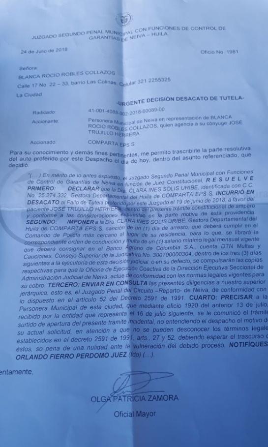 Caso de negligencia médica en Neiva: Paciente con tumor maligno en su cuello clama atención urgente