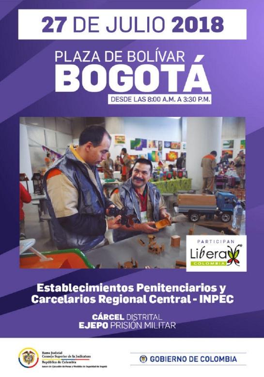 Personas privadas de la libertad vederán productos en la Plaza de Bolívar