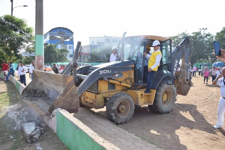 Remodelación canchas Alameda Cartagena: Inician obras en templo del fútbol infantil de Cartagena