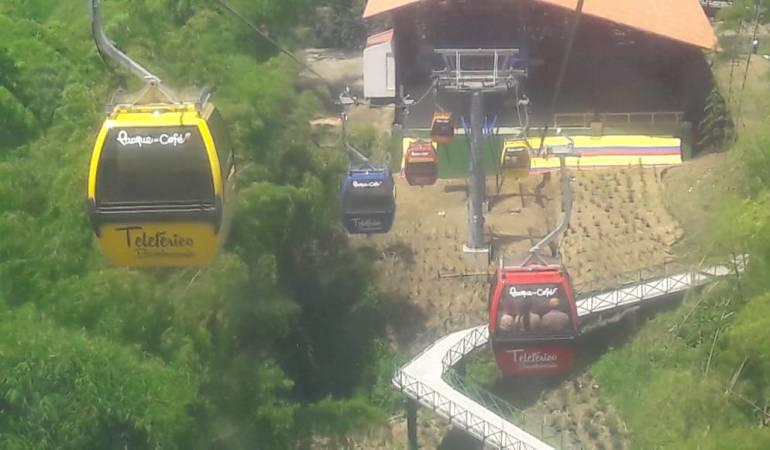 Teleférico Bambusario del parque del café en Montenegro, Quindío