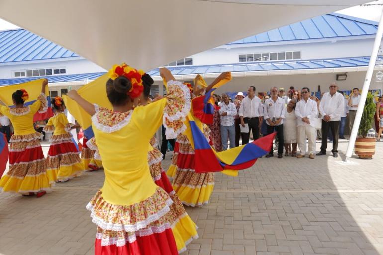 Inauguración de la Casa de Cultura en Palmar de Varela