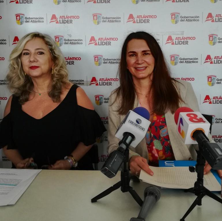 Zandra Vásquez, Secretaria de la Mujer y Equidad de Género y Viviana Limpias, Directora de UNICEF en Colombia.
