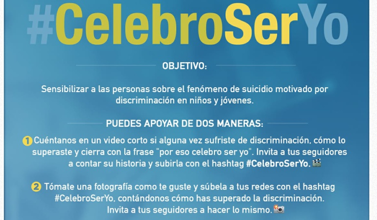 "Bullying: ""Celebro Ser Yo"", la campaña que busca rechazar todo tipo de discriminación"