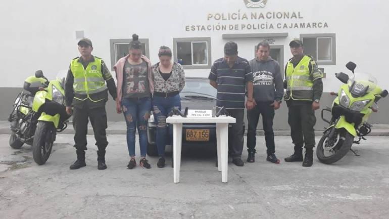Porte ilegal de armas: En vía La Línea en Tolima capturadas varias personas con armas de fuego