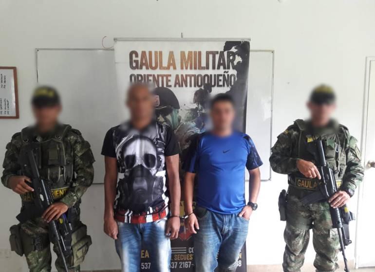 Desarticulada banda de extorsionistas en el oriente de Antioquia