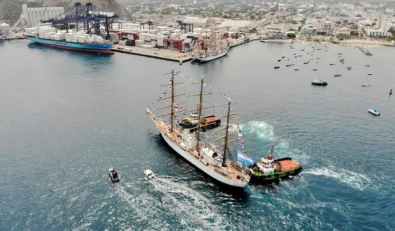 Cumpleaños de Santa Marta: 7 buques escuela engalanan el Puerto de Santa Marta