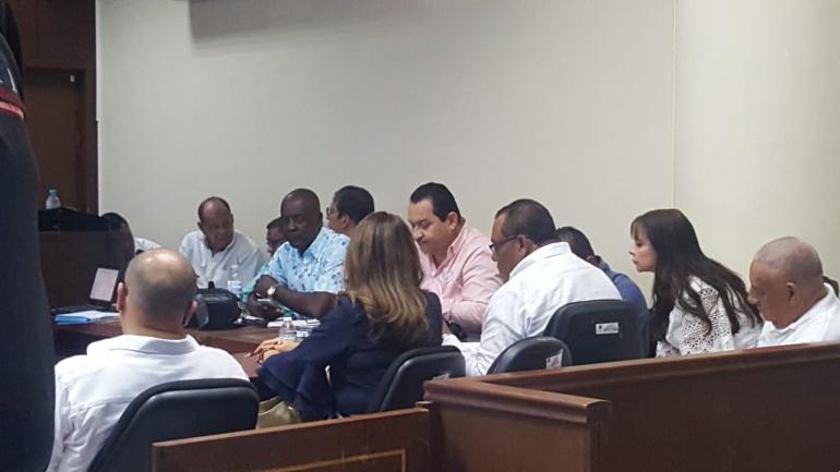 Audiencia de imputación de cargos contra concejales y diputados del Atlántico.