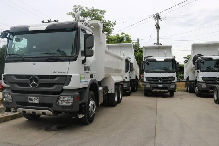 Aseo Urbano tiene nueva flota vehicular en Cartagena: Aseo Urbano tiene nueva flota vehicular en Cartagena