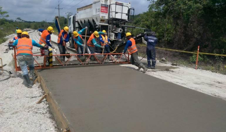 En marcha ejecución de obra vial entre Istmina y Medio Baudó