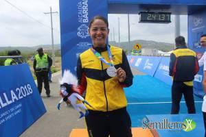 Lina María Raga, obtuvo dos medallas de plata en Triatlón