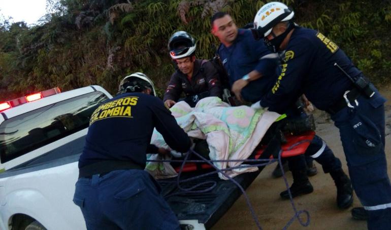 Varios socorristas atendieron la emergencia.