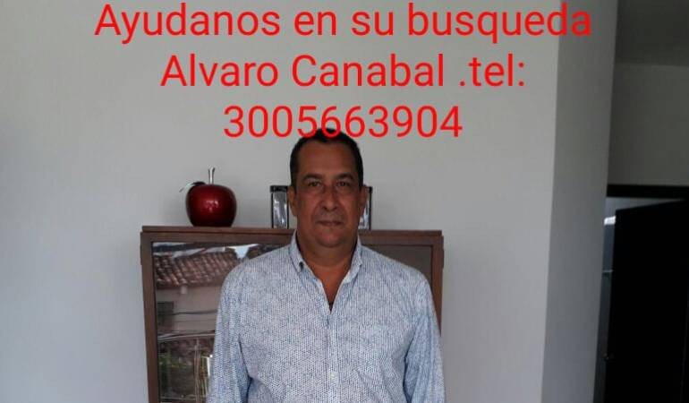 Desaparición en Montería: Familia en Montería busca desesperada a Alvaro Canabal Guzmán