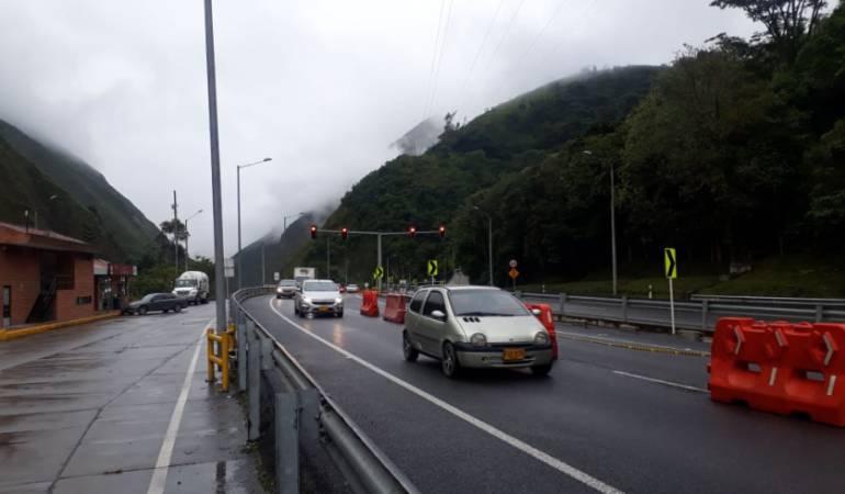Cerrada la vía Villavicencio-Bogotá por derrumbe