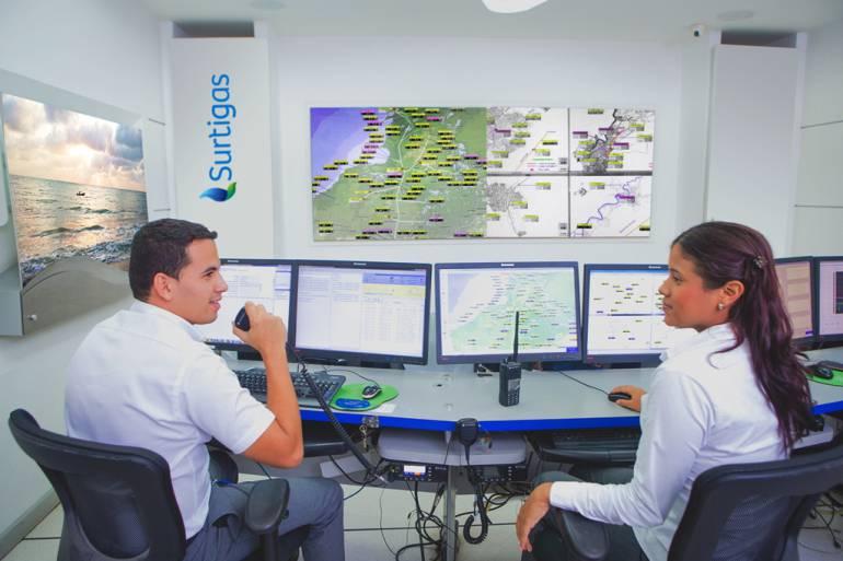 Surtigas dispone de un centro de control para trabajos con total seguridad: Surtigas dispone de un centro de control para trabajos con total seguridad