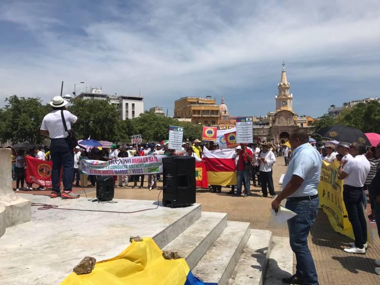 En Cartagena marcharon contra los Gobiernos Santos y Duque: En Cartagena marcharon contra los Gobiernos Santos y Duque