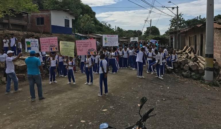 Manifestación en Quibdó conra el abandono