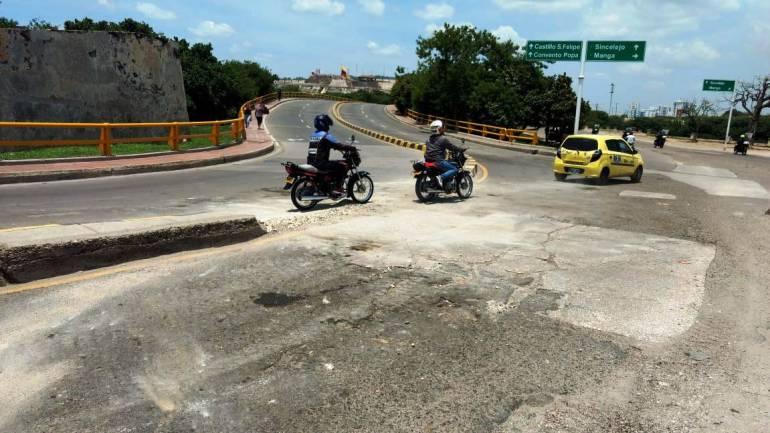 Cierran ingreso al Centro Histórico de Cartagena por el Puente Heredia: Cierran ingreso al Centro Histórico de Cartagena por el Puente Heredia