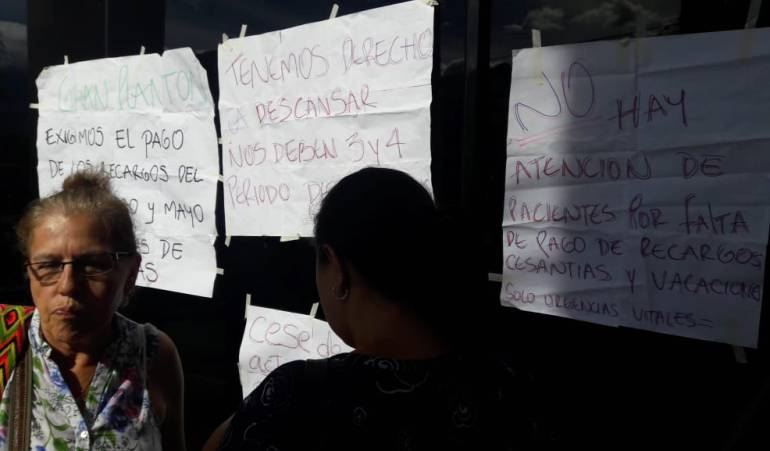 Crisis de la Salud: En cese de actividades personal asistencial de Esimed por falta de pago